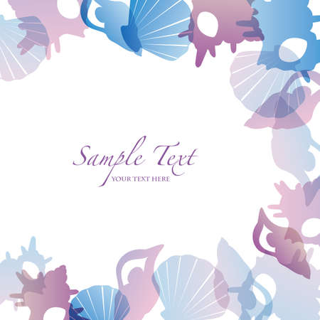 summer background with shell Vector