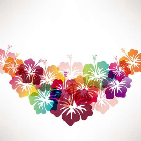 flores color pastel: resumen de antecedentes con el hibisco