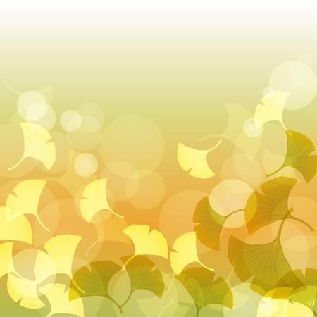brightness: ginkgo in the brightness Illustration