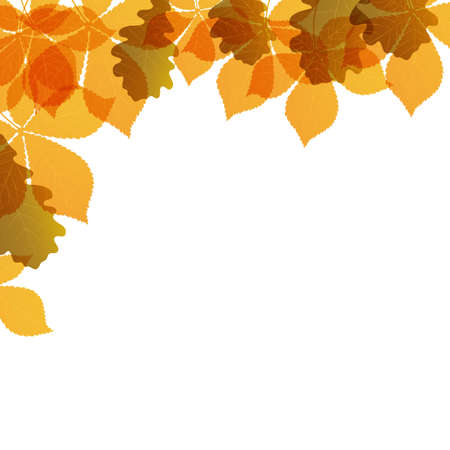 colored leaves background Vector