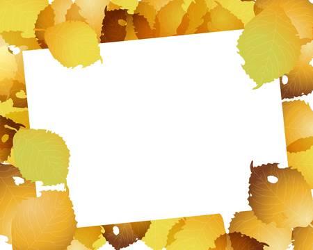 fallen: fallen leaves frame