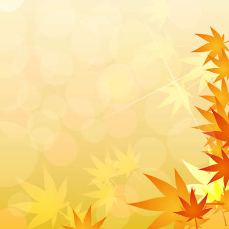 maple of autumn background Stock Vector - 12482157