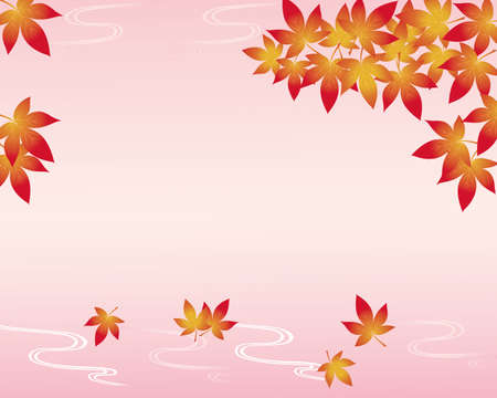 greeting card background: maple background