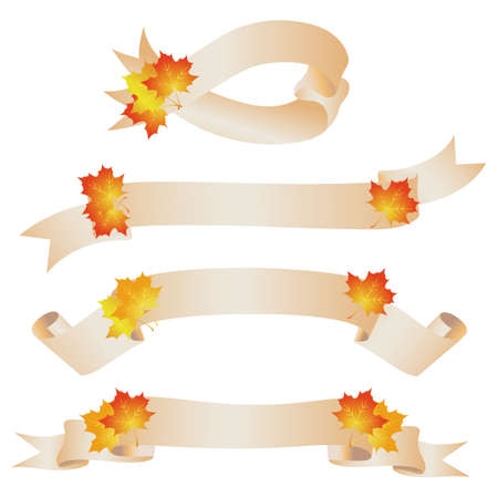 maple ribbon Vector