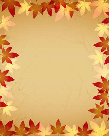old paper background with maple Stock Vector - 12482771