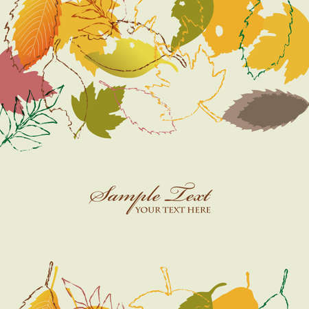 fallen leaves background of autumn Stock Vector - 12482241