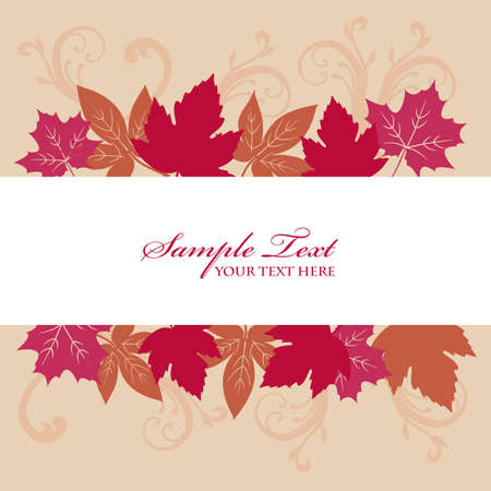 maple background frame Vector