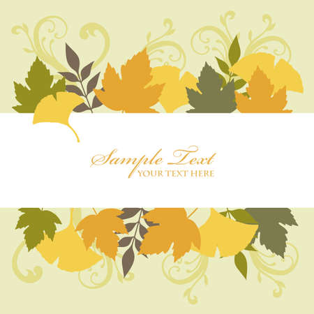 ginkgo background frame Vector