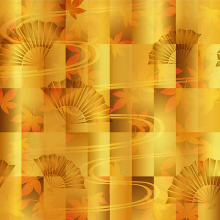 maple and fan background Vector