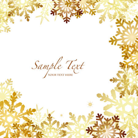 winter background with gold crystal Vector
