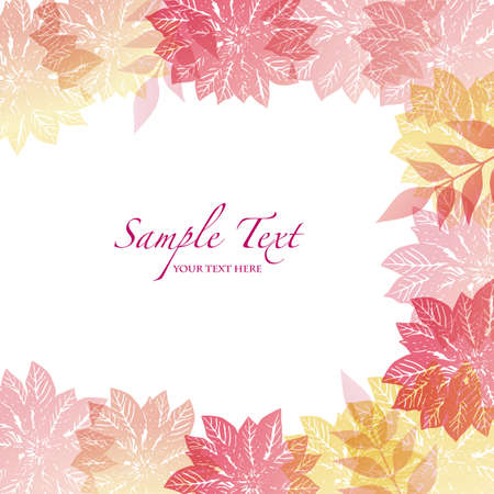 winter background with poinsettia Vector