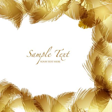gold feather background Vector