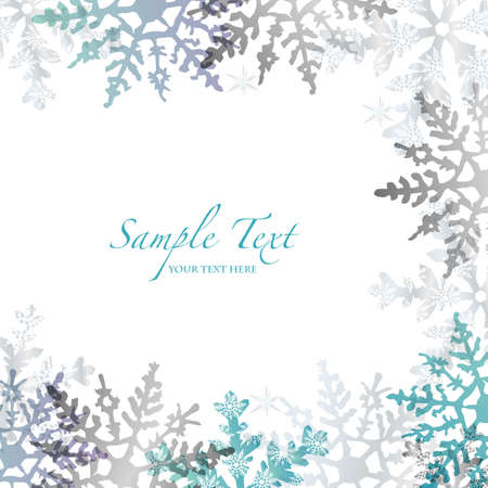christmas snow: crystal background Illustration