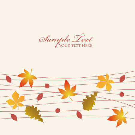 autumn leaves background Stock Vector - 12481827