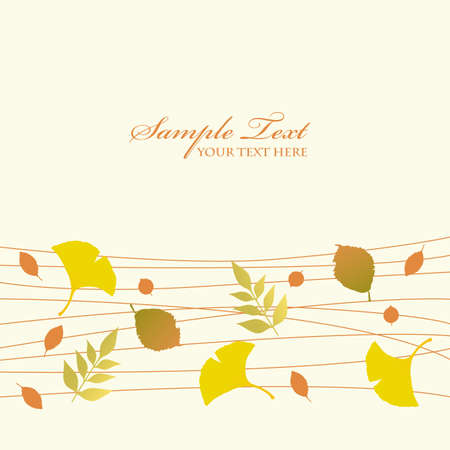 autumn leaves background Stock Vector - 12481810
