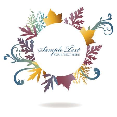 autumn leaves frame Stock Vector - 12481968