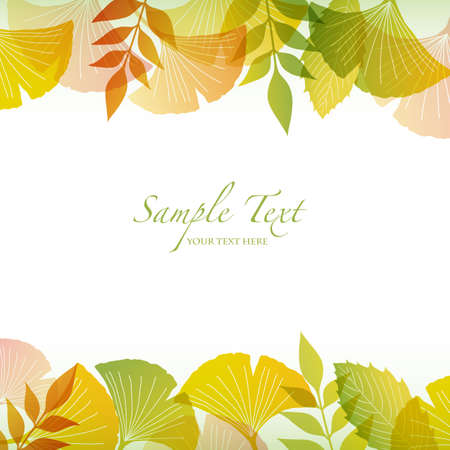 autumn background with ginkgo Illustration