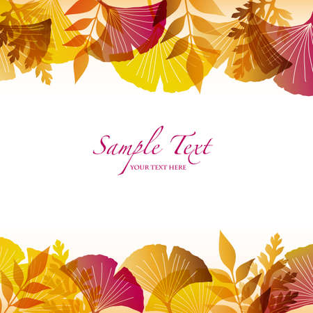 autumn background with ginkgo Stock Vector - 12482754