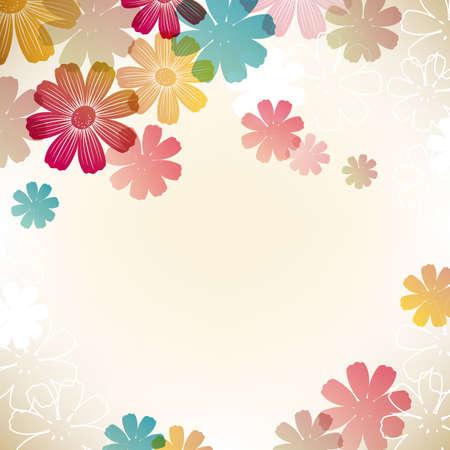 다채로운 코스모스 배경