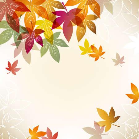 bladeren: kleurrijke esdoorn achtergrond Stock Illustratie