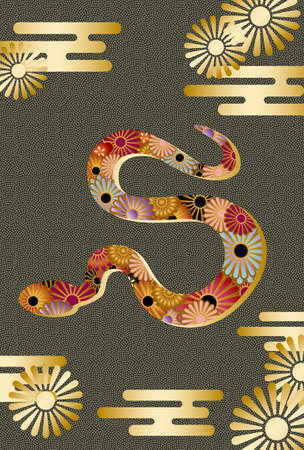 chinese new year snake: snake silhouette