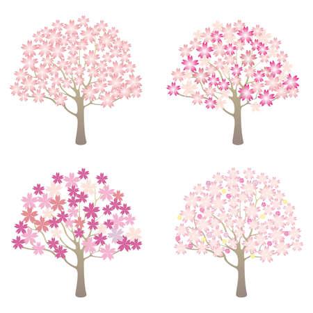 spring tree set Vector