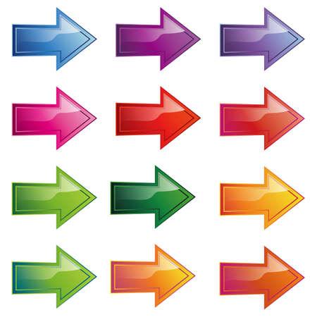 flecha direccion: icono de la flecha conjunto
