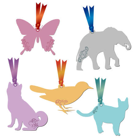 animal tag set Vector