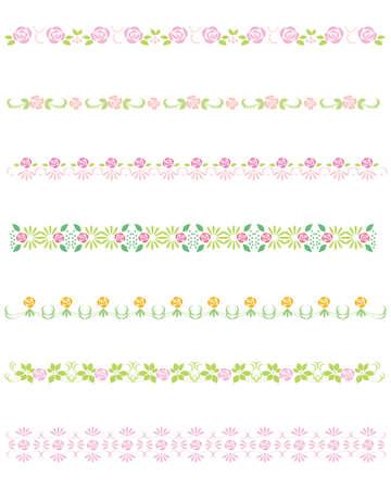 pink rose line Vector