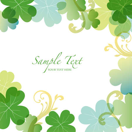 spring background with clover  Vector