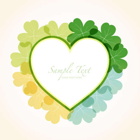 heart frame with clover Vector