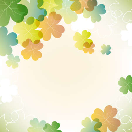 early spring: abstract background with clover Illustration