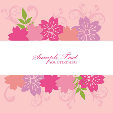 fondos colores pastel: la flor de cerezo marco de fondo Vectores