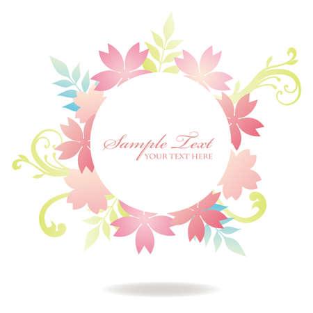 subject matter: cherry blossom spring frame Illustration