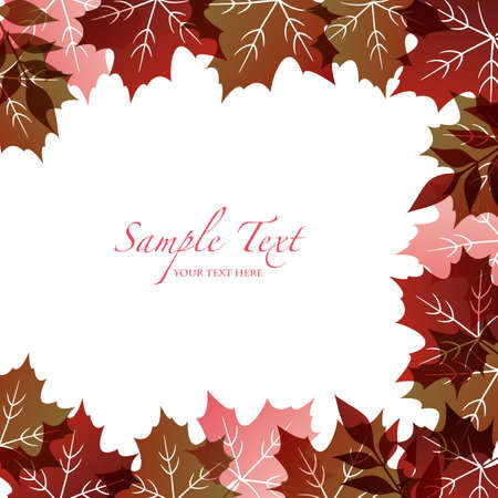 autumn background with fallen leaves Stock Vector - 12482954