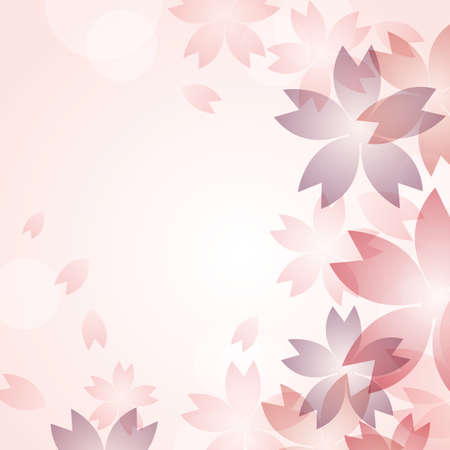 subject matter: cherry blossom flowers background Illustration