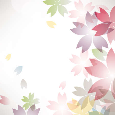 cherry blossom colorful flowers background Vector