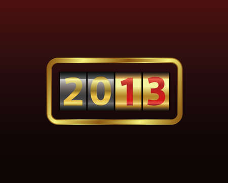 digital clock: new year counter