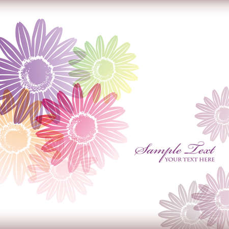 elegant backgrounds:  daisy background Illustration