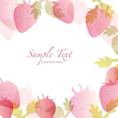 spring background with strawberry Vector