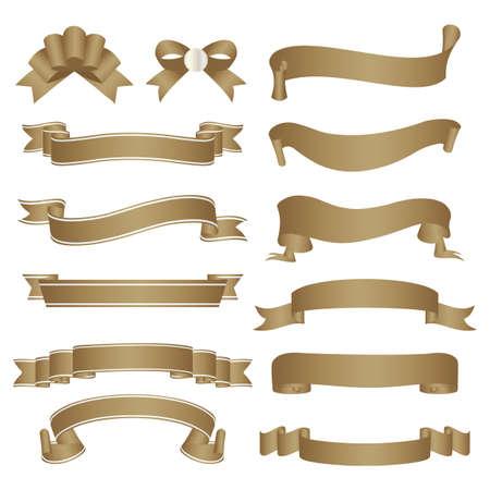 set of old paper ribbon