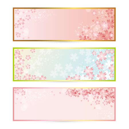 graduation background: spring frame set