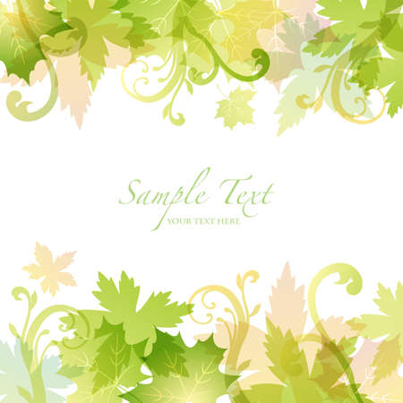 spring background with green leaves Vector