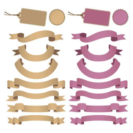 set of kraft paper ribbon