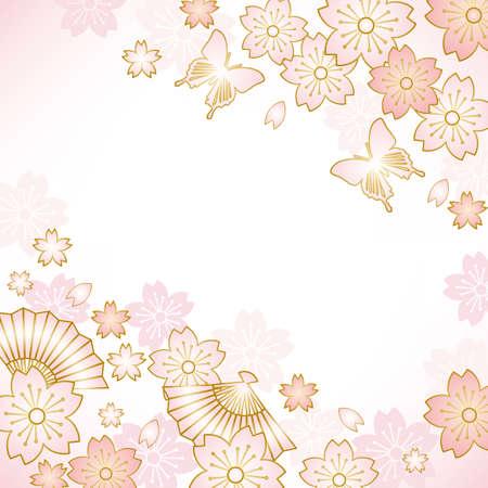 kimono: la primavera de fondo