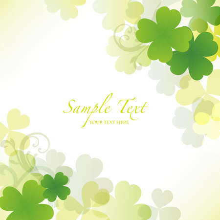 early spring: clover background