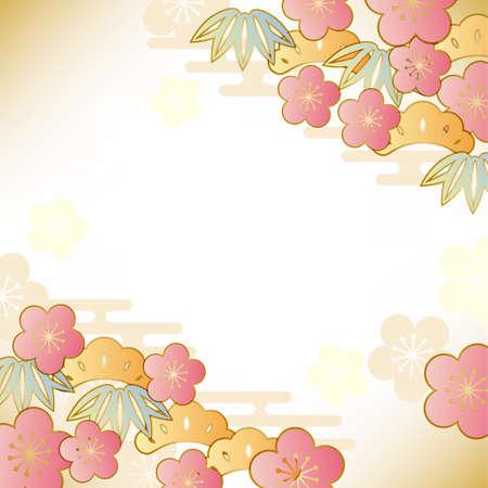 japonais motif de bon augure