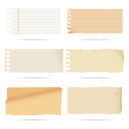 set of old paper Stock Vector - 12814754