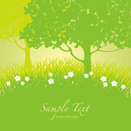 early summer: green background