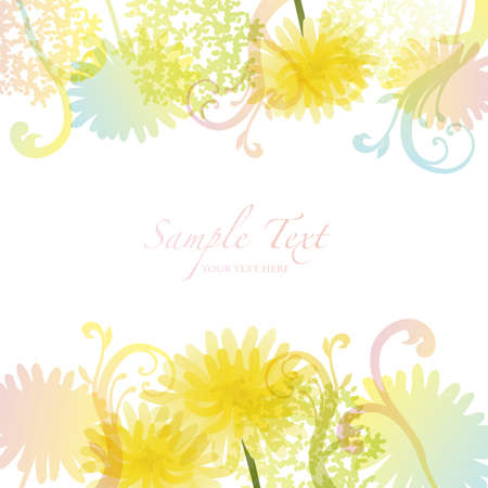 refreshing: spring background with dandelion
